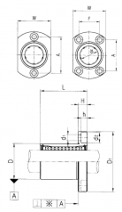 Подшипник Шариковые втулки с фланцем серии LMH Подшипник LMH 25 UU по выгодным ценам