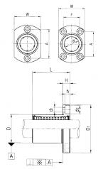 Подшипник Шариковые втулки с фланцем серии LMH Подшипник LMH 8 UU по выгодным ценам